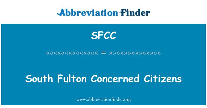 SFCC: Ciudadanos preocupados South Fulton