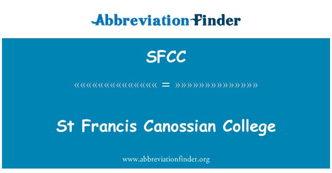 SFCC: St Francis Canossiano College