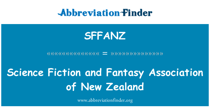 SFFANZ: Science Fiction and Fantasy Association of New Zealand