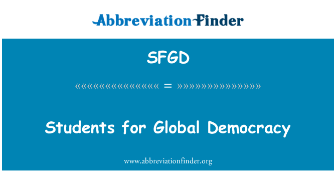 SFGD: Students for Global Democracy