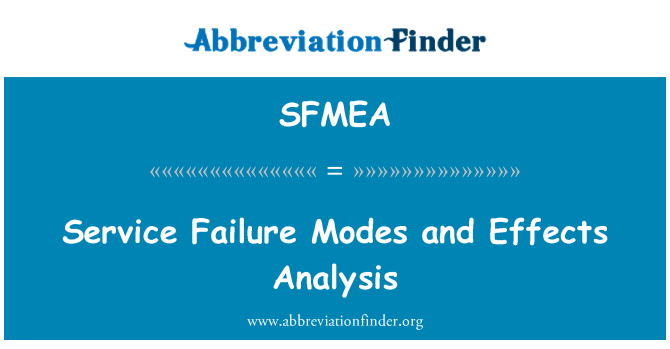 SFMEA: Service Failure Modes and Effects Analysis