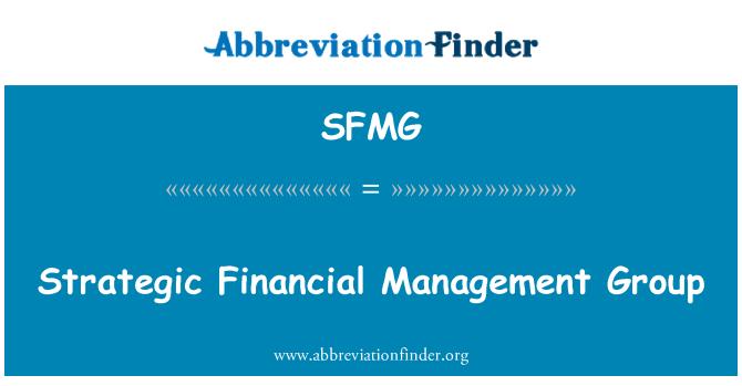 SFMG: Strategic Financial Management Group
