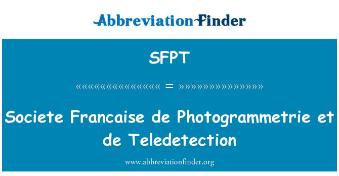 SFPT: Société française de Photogrammetrie et de kaugseiret