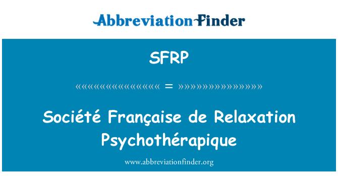 SFRP: Société Française de relajación Psychothérapique