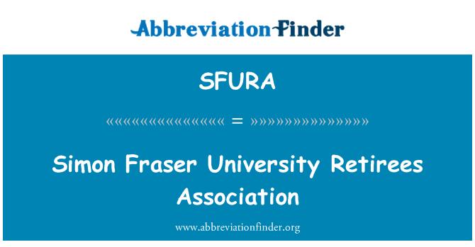 SFURA: Simon Fraser University Retirees Association