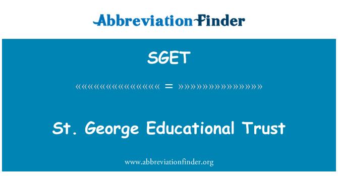 SGET: St. George Educational Trust