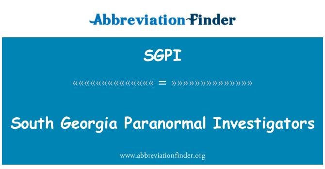 SGPI: Investigadores paranormales de Georgia del sur