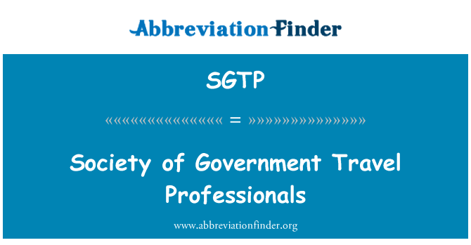 SGTP: Society of Government Travel Professionals
