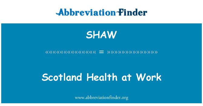 SHAW: Escocia salud en el trabajo