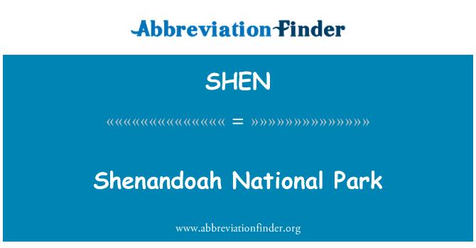 SHEN: Parque Nacional de Shenandoah