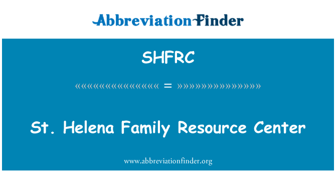 SHFRC: St. Helena Family Resource Center