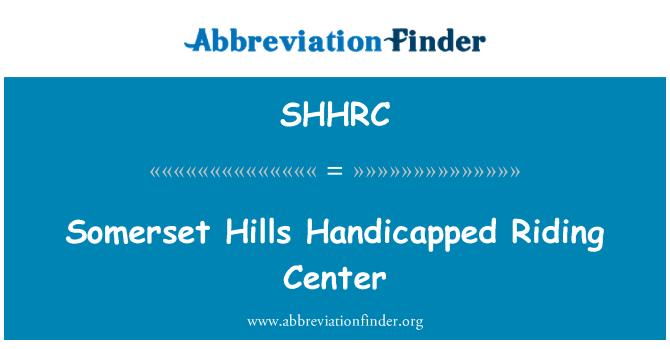 SHHRC: Somerset Hills Handicapped Riding Center