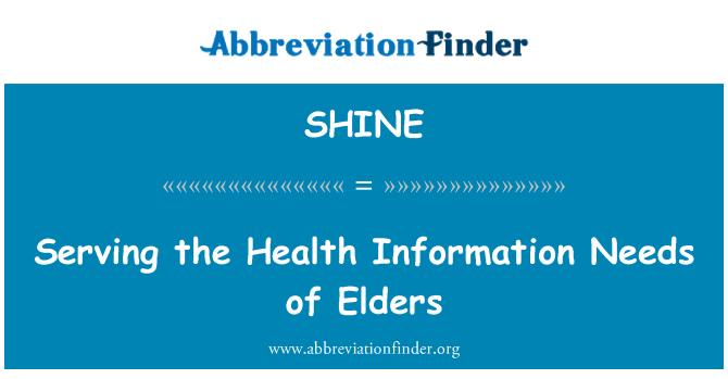 SHINE: Atendiendo las necesidades de información de salud de ancianos