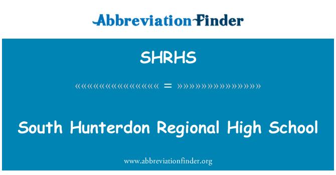 SHRHS: South Hunterdon Regional High School