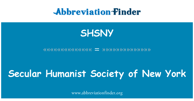 SHSNY: Sekulární humanista společnost New Yorku