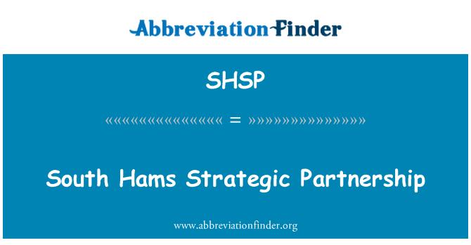 SHSP: South Hams Strategic Partnership
