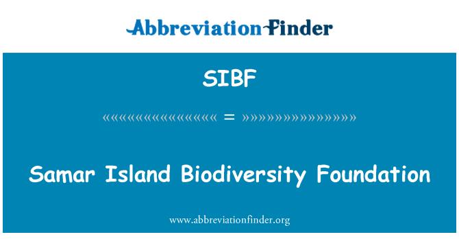 SIBF: Samar Island Biodiversity Foundation