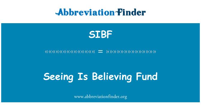 SIBF: Seeing Is Believing Fund