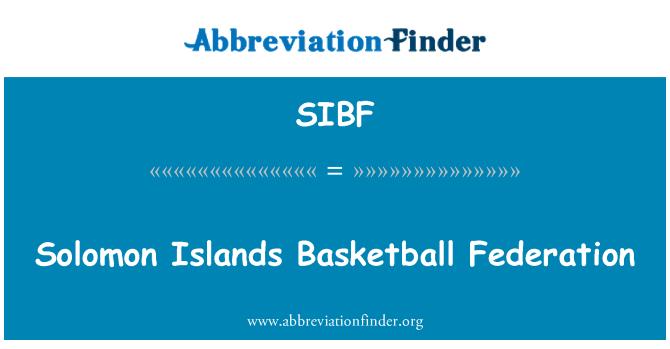 SIBF: Solomon Islands Basketball Federation