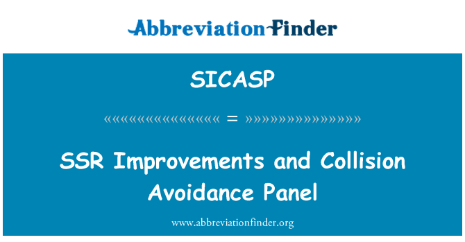 SICASP: SSR Improvements and Collision Avoidance Panel