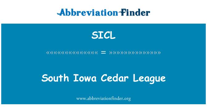 SICL: South Iowa Cedar League
