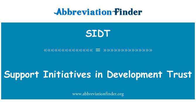 SIDT: Support Initiatives in Development Trust