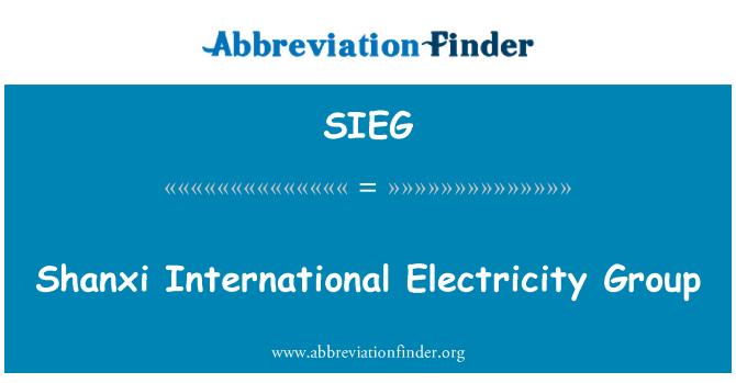 SIEG: Shanxi International Electricity Group