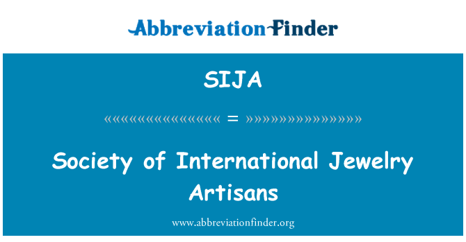 SIJA: Society of International Jewelry Artisans