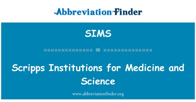 SIMS: Scripps instituciones para la medicina y la ciencia