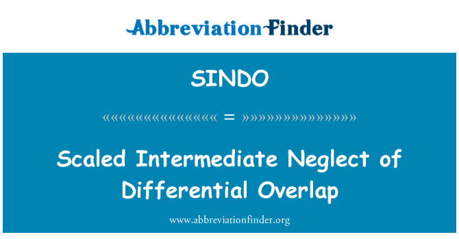 SINDO: Scaled Intermediate Neglect of Differential Overlap
