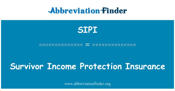 SIPI: Survivor Income Protection Insurance