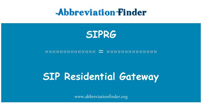 SIPRG: SIP Residential Gateway