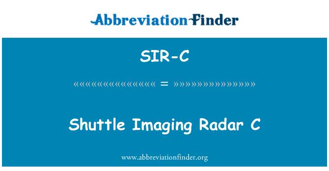 SIR-C: Shuttle Imaging Radar C