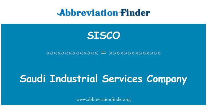 SISCO: Saudita Industrial Services Company
