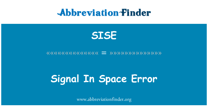 SISE: 信号在空间错误