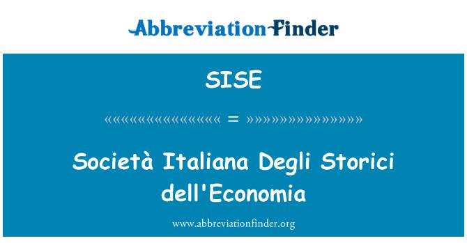 SISE: Società Italiana Degli Storici Dell