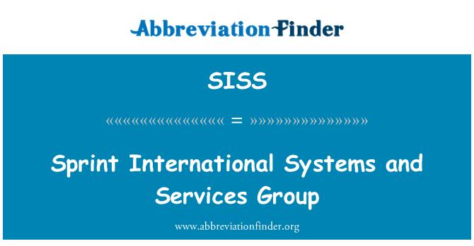 SISS: Sprint uluslararası sistemleri ve Hizmetleri grubu