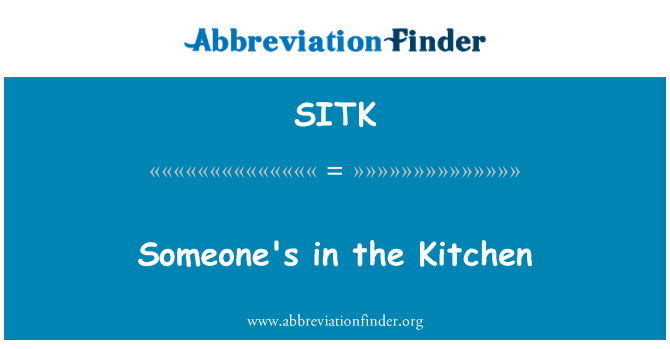 SITK: Birinin mutfak