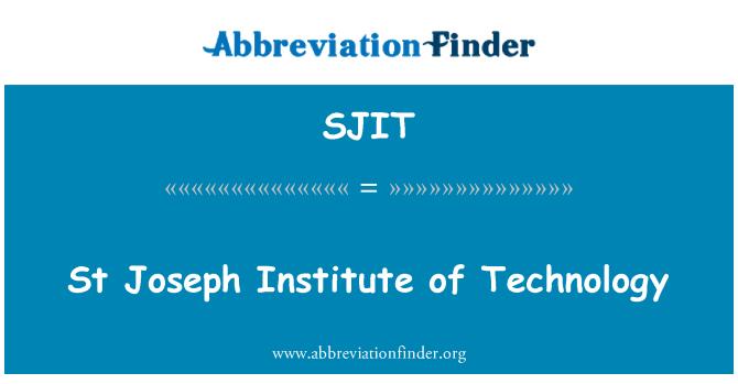 SJIT: St Joseph Institute of Technology