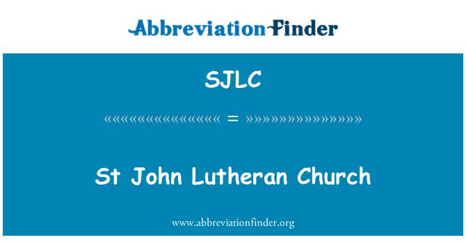 SJLC: St 约翰路德教会