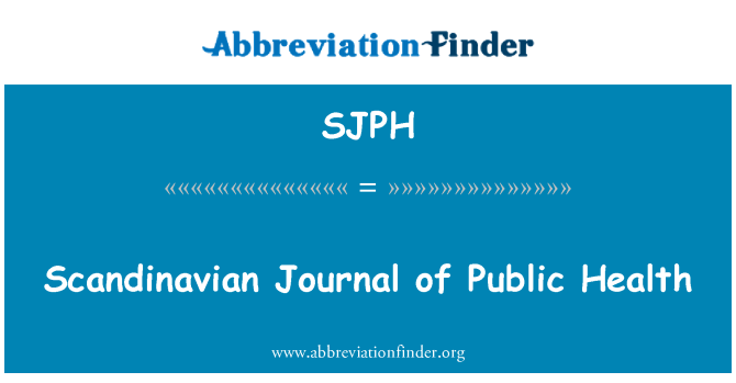 SJPH: Scandinavian Journal of Public Health