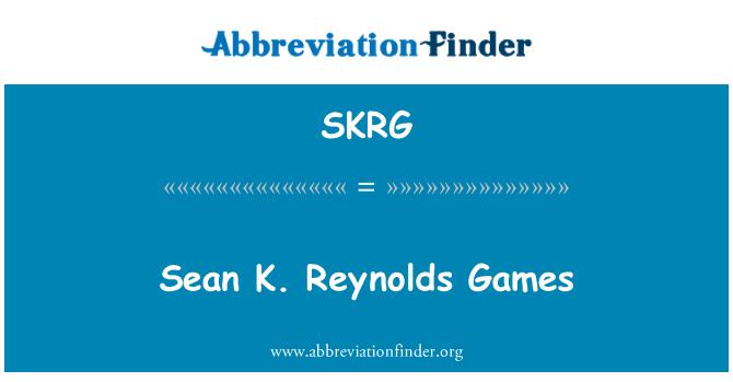 SKRG: 肖恩 · 雷诺游戏