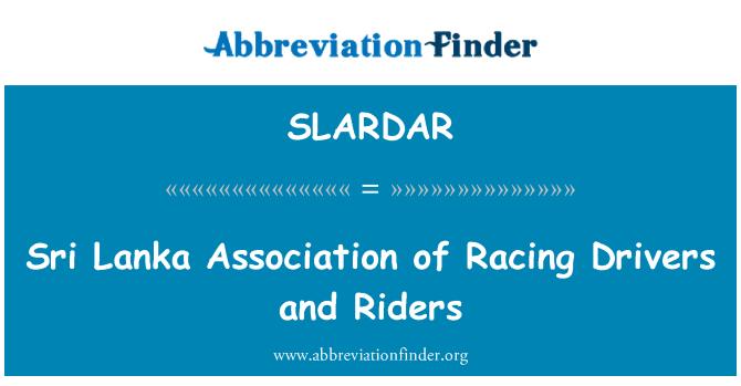 SLARDAR: Šri Lanka udruga utrke vozači i vozači