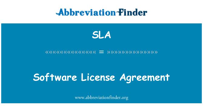 Sla Opredelitev Software License Agreement Kratica Finder