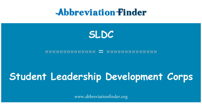 SLDC: Student Leadership arengu korpuse