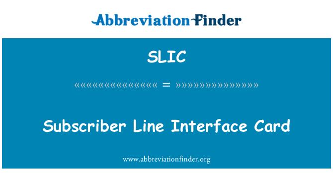 SLIC: Tarjeta de interfaz de línea de abonado