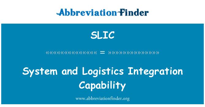 SLIC: Sistema y capacidad de integración logística