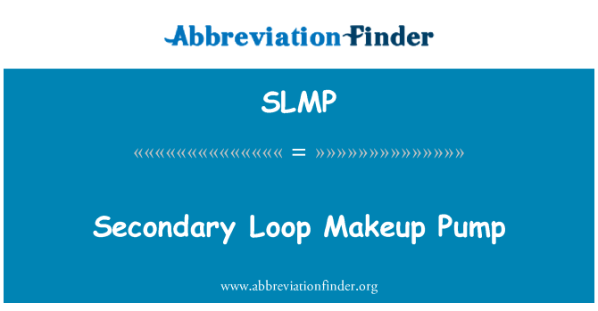 SLMP: Secondary Loop Makeup Pump