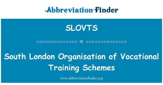 SLOVTS: Južnom Londonu organizacija programa stručnog osposobljavanja