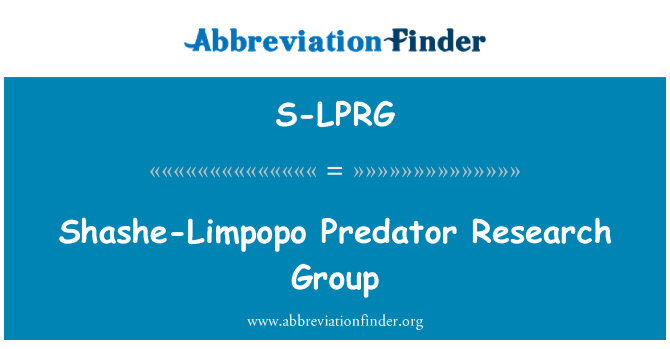 S-LPRG: Shashe-Limpopo Predator Research Group